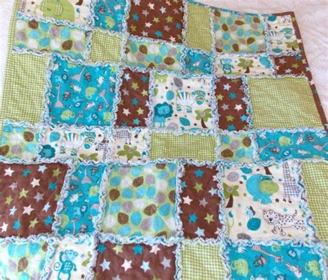 Pattern For Baby Rag Quilt With Flannel by Zoo Animals Baby Boy Flannel Rag Quilt