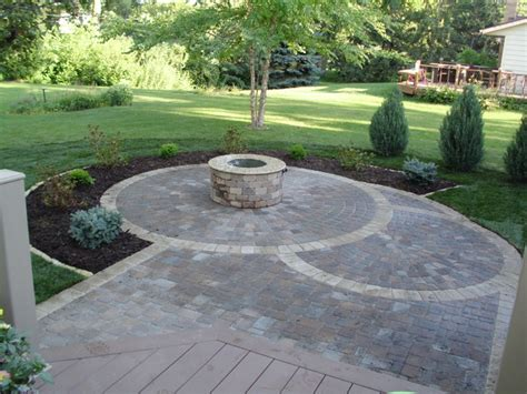 Circular Patio Designs Circular Paver Patio Patio Minneapolis By Barrett Lawn Care