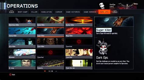 black ops 2 caign challenges black ops 3 ops challenges