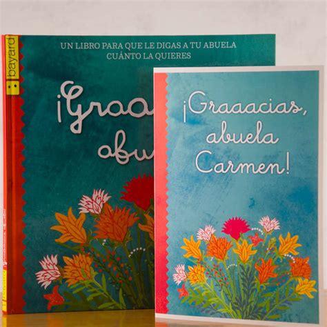 libro gracias libro gracias abuela con tarjeta personalizada