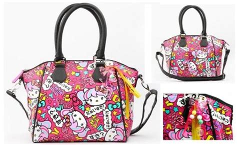 3d Cross Bumper Character Hello Pink hello japanimation crossbody bag