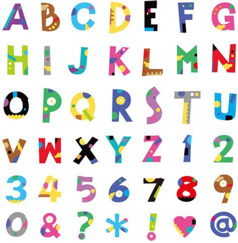 colorful fonts colorful font 3d alphabet graphic free vector