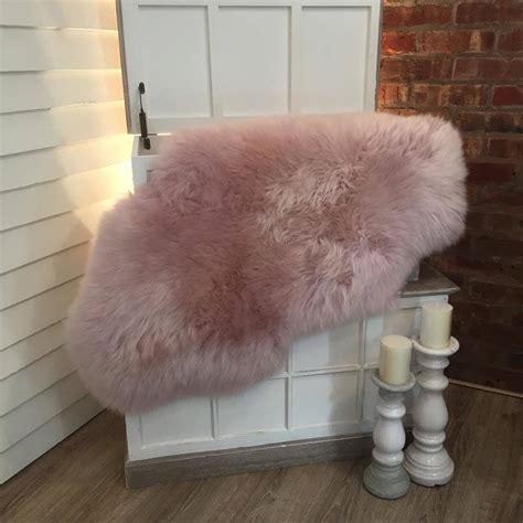 luxury sheepskin rug luxury powder pink sheepskin rugs by cowshed interiors notonthehighstreet