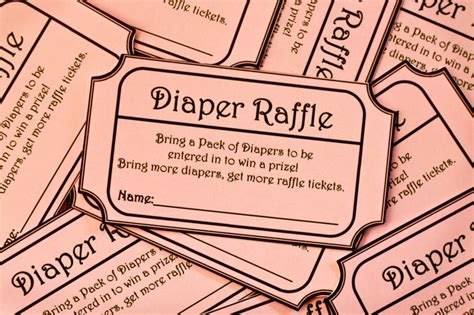 printable prize tickets 8 00 pink printable baby shower diaper raffle ticket