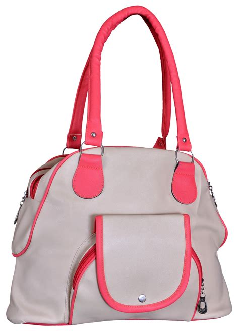 Fabhic Casual Handbag Pink buy pink grey fabric pu casual plain handbag in