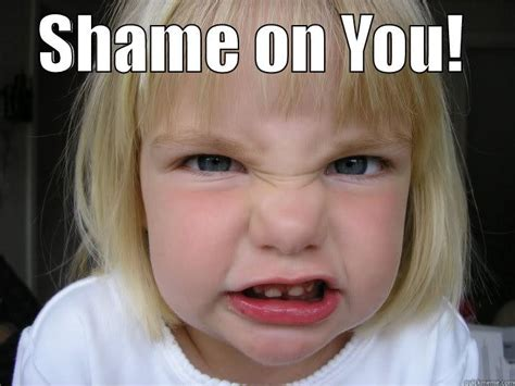 Shame On You Meme - shame on you quickmeme
