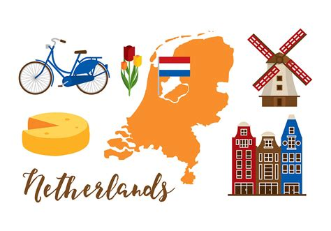 netherlands map clipart netherlands map set free vector stock