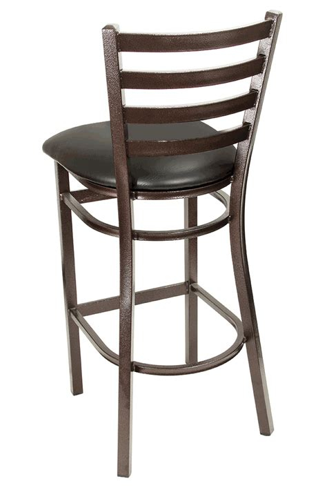Ladder Back Bar Stools With Seats by Gladiator Copper Vein Ladder Back Metal Bar Stool With