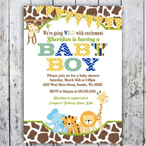 safari baby shower invitations jungle animal  bigdayinvitations