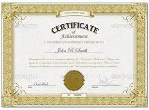printable achievement certificate template free printable certificates certificate templates