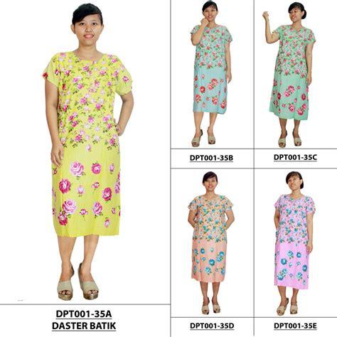 Daster Busui Dan Bumil daster batik lengan pendek motif bunga leher kancing