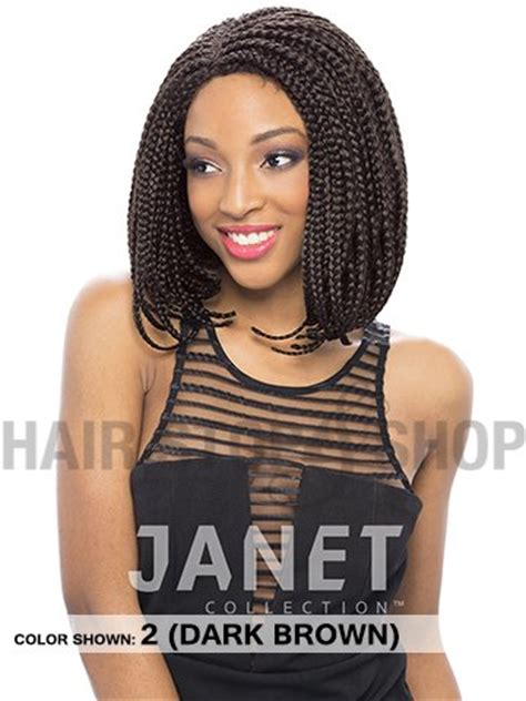 prixie braided wigs janet collection havana ez box braid lace front pixie wig
