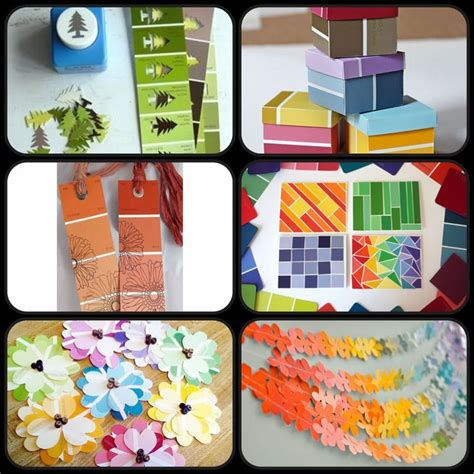 paint swatch craft ideas get your craft on