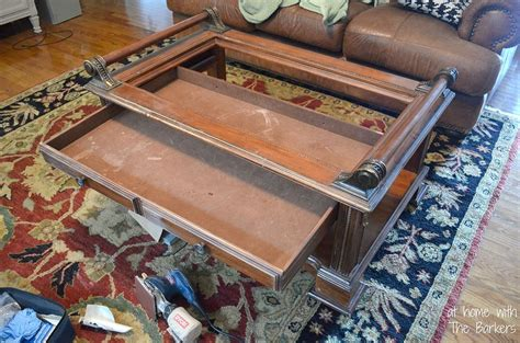 diy chalk paint coffee table hometalk coffee table makeover using chalk paint