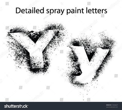 spray paint font adobe detailed spray paint font yy stock vector illustration