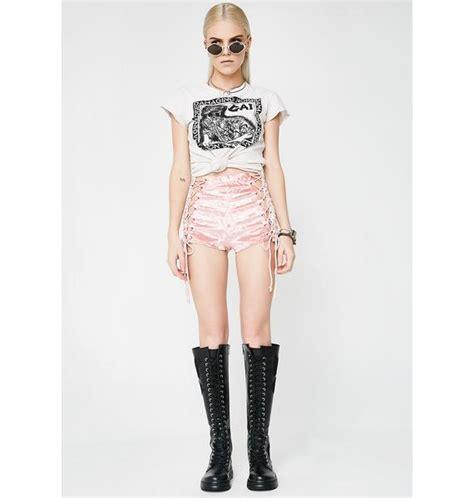 Lace Up Velvet Shorts current mood princess velvet crushin lace up shorts