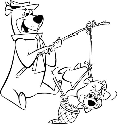 Yogi Bear Coloring Pages Coloringpages1001 Com Yogi Coloring Pages
