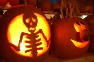 skeleton and cartoon halloween pumpkin mgt design