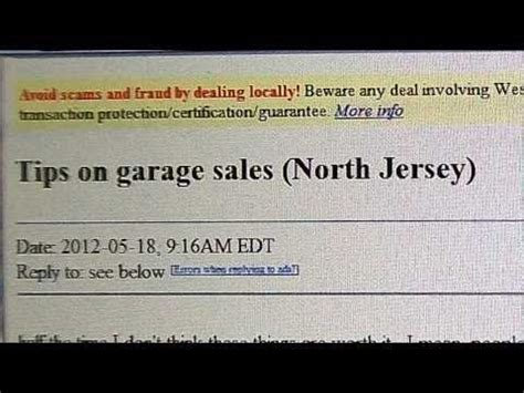 How To Post A Garage Sale On Craigslist by Tips On Garage Sales A Dramatic Reading Of A Craigs