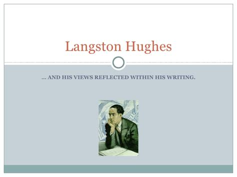 langston hughes research paper research paper langston hughes