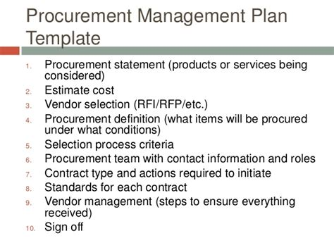 procurement management template project procurement management template pictures to pin on