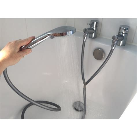 shower attachment for large bath taps convert your and cold taps into an instant shower by