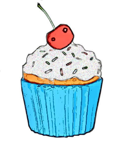 Jam Dinding Cupcake Cupcake Free Images At Clker Vector Clip