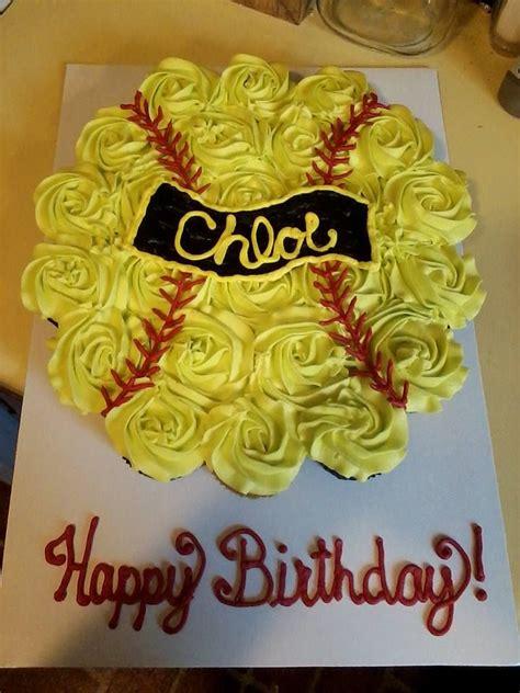 softball cupcake cake cupcake cakes softb