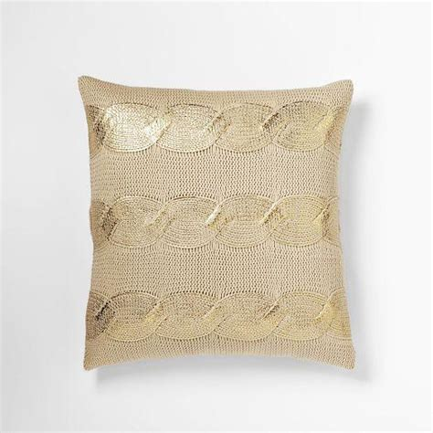 west elm pillows gilded cable pillow cover gold west elm