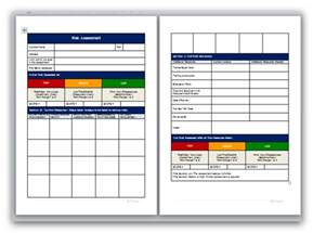 free risk assessment template blank method statement and risk assessment template pack
