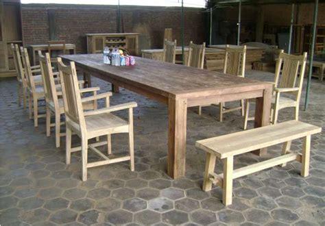 Meja Makan Rustic jual meja makan antik rustic garden harga murah jepara oleh pt kayu bening mebel jepara