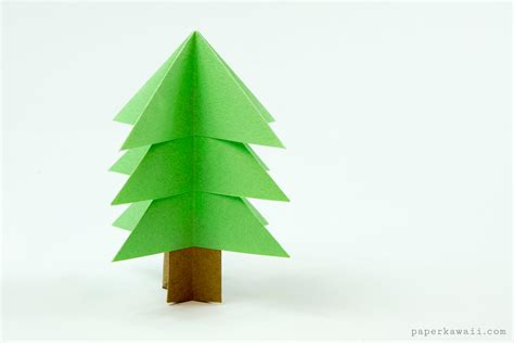 Tree Origami Easy - easy origami tree tutorial paper kawaii