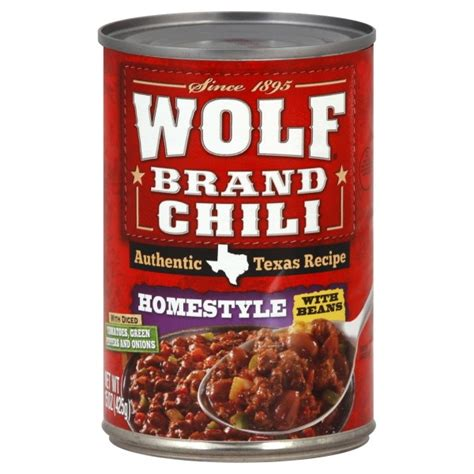 Chili Powder 65g wolf brand chili homestyle with beans