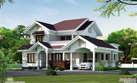 villa home plans beautiful villa elevation in 2000 sq kerala home