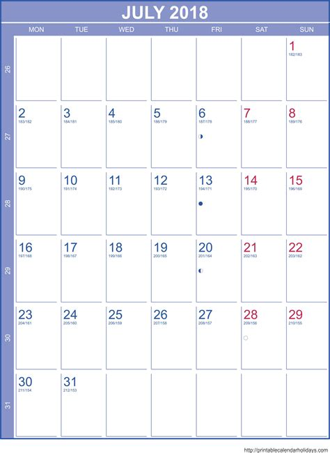 july 2018 calendar template printable 2017 calendars