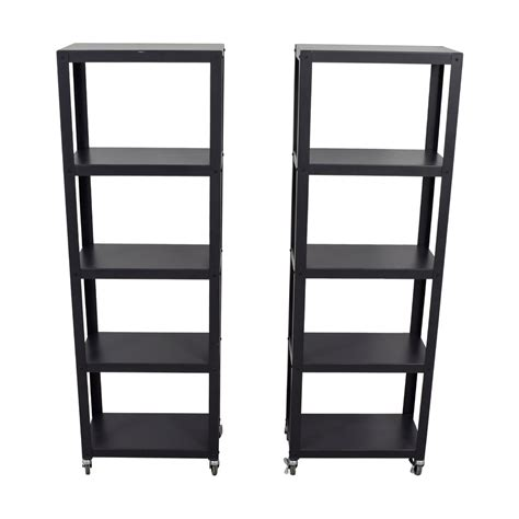 Go Five Black by 40 Cb2 Cb2 Black Go Cart Five Shelf Bookcases On