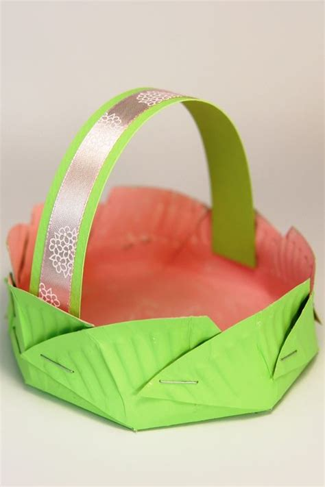 Easter Baskets With Paper Plates - pin by almirol on pizza box crafts