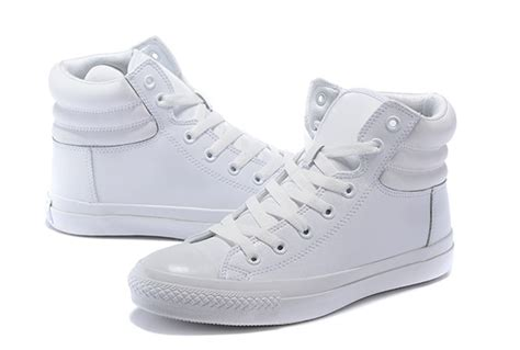 Converse All Fullwhite Sneakers Putih 2016 warm all white converse all embroidery leather padded collar high tops winters boots