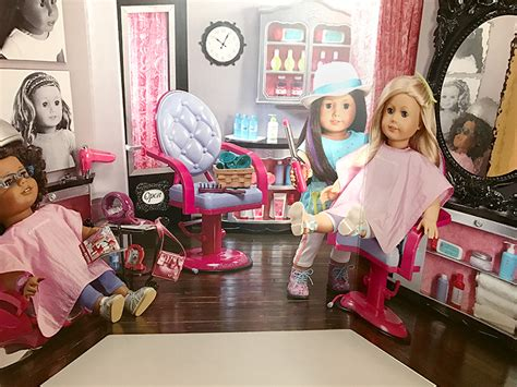 american girl doll hair dresser a day at the hair salon with american girl dolls