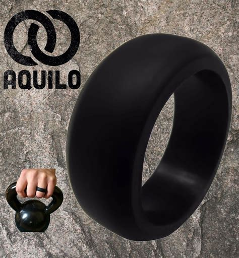AQUILO Silicone wedding Ring Band rubber ring Crossfit
