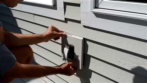 how to hang lights on vinyl siding light mounting block for wood siding iron blog