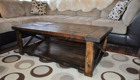 How To Make Coffee Table How To Build And Distress Farmhouse Style Coffee Table