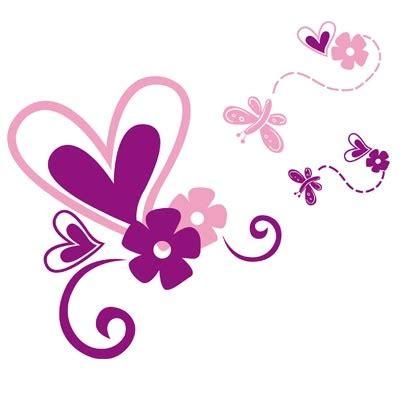 imagenes de flores y corazones infantiles mariposas flores decoracion