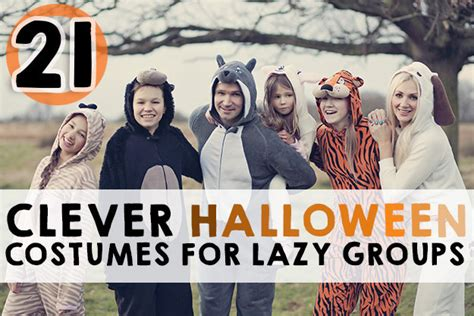 clever halloween costumes  lazy groups