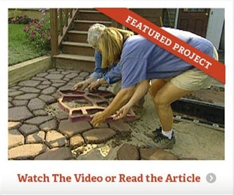 Make Your Own Patio Pavers Make Your Own Concrete Walkway Pavers Decks Patios And Walkways