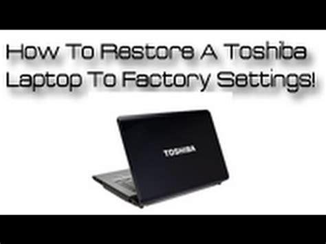 restore  toshiba laptop  default factory