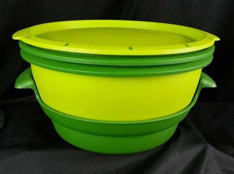 Tupperware Steam It Green tupperware microwave steamer shop collectibles daily