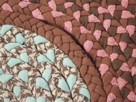 used braided rugs large braided rug handmade vintage rag rug made of wool poly fabric