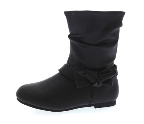 winter school shoes mid calf boots warm winter slouch faux leather