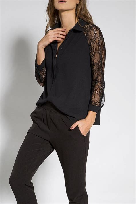 Mine Black Rosey Blouse b mine lace blouse from tel aviv by bmine shoptiques